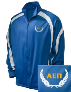Alpha Epsilon Pi Embroidered Holloway Men's Tricotex Warm Up Jacket