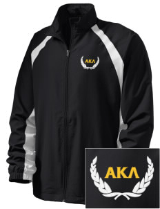 Alpha Kappa Lambda  Embroidered Men's Full Zip Warm Up Jacket