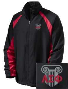 Alpha Sigma Phi  Embroidered Men's Full Zip Warm Up Jacket