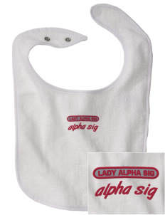 Alpha Sigma Phi Embroidered Baby Snap Terry Bib