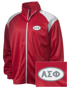 Alpha Sigma Phi Embroidered Men's Tricot Track Jacket