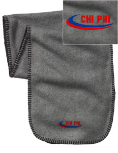 Chi Phi Embroidered Fleece Scarf