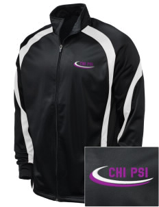 Chi Psi Embroidered Holloway Men's Tricotex Warm Up Jacket