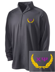 Chi Psi Embroidered Men's Stretched Half Zip Pullover