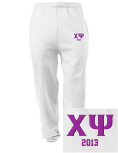 Chi Psi Embroidered Men's Sweatpants with Pockets