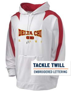 Delta Chi Holloway Men's Sports Fleece Hooded Sweatshirt with Tackle Twill