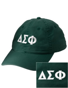 Delta Sigma Phi Embroidered Vintage Adjustable Cap