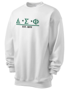 Delta Sigma Phi Men's 7.8 oz Lightweight Crewneck Sweatshirt