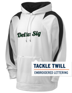 Delta Sigma Phi Holloway Men's Sports Fleece Hooded Sweatshirt with Tackle Twill