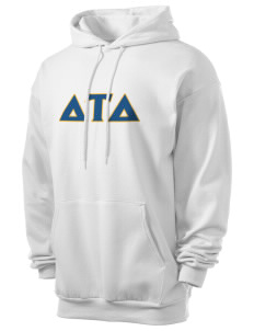 Delta Tau Delta Men's 7.8 oz Lightweight Hooded Sweatshirt