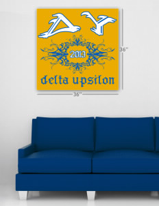 "Delta Upsilon Wall Poster Decal 36"" x 36"""