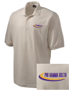 Phi Gamma Delta Embroidered Nike Men's Pique Knit Golf Polo