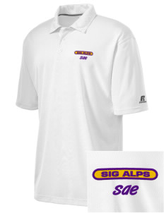 Sigma Alpha Epsilon Embroidered Russell Coaches Core Polo Shirt