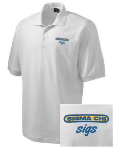 Sigma Chi Embroidered Nike Men's Pique Knit Golf Polo