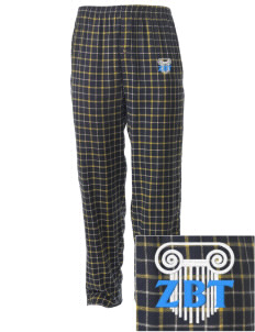 Zeta Beta Tau Embroidered Men's Button-Fly Collegiate Flannel Pant