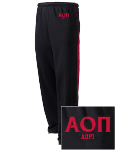Alpha Omicron Pi Embroidered Holloway Men's Pivot Warm Up Pants