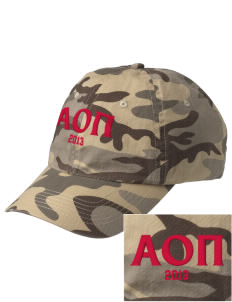 Alpha Omicron Pi Embroidered Camouflage Cotton Cap