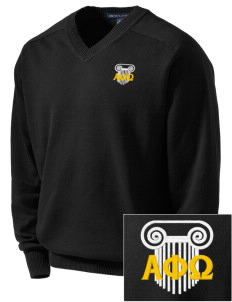 Alpha Phi Omega Embroidered Men's V-Neck Sweater