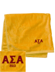 Alpha Sigma Alpha Embroidered Beach Towel