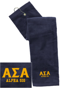 Alpha Sigma Alpha Embroidered Hand Towel with Grommet