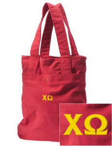 Chi Omega Embroidered Alternative The Berkeley Tote