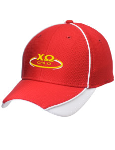Chi Omega Embroidered New Era Contrast Piped Performance Cap