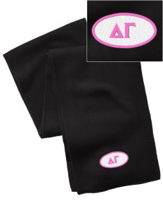 Delta Gamma  Embroidered Knitted Scarf