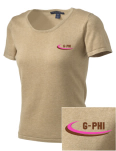 Gamma Phi Beta Embroidered Women's Fine-Gauge Scoop Neck Sweater