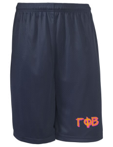 "Gamma Phi Beta Long Mesh Shorts, 9"" Inseam"