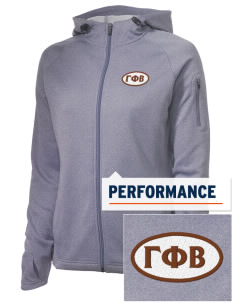 Gamma Phi Beta Embroidered Women's Tech Fleece Full-Zip Hooded Jacket