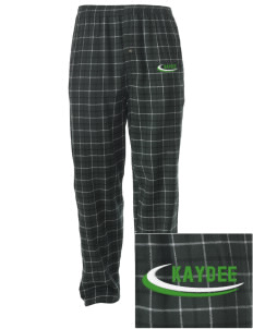 Kappa Delta Embroidered Men's Button-Fly Collegiate Flannel Pant