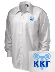 Kappa Kappa Gamma  Embroidered Men's Long Sleeve Non-Iron Twill Shirt