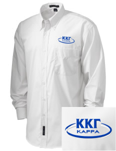 Kappa Kappa Gamma  Embroidered Men's Easy Care, Soil Resistant Shirt