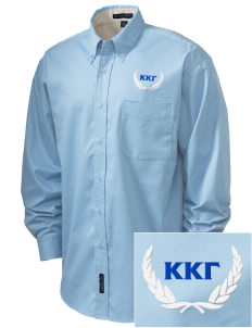Kappa Kappa Gamma Embroidered Men's Easy-Care Shirt