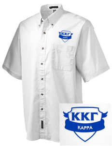 Kappa Kappa Gamma Embroidered Men's Short Sleeve Twill Shirt