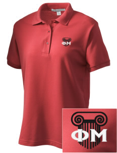Phi Mu Women's Embroidered Silk Touch Polo