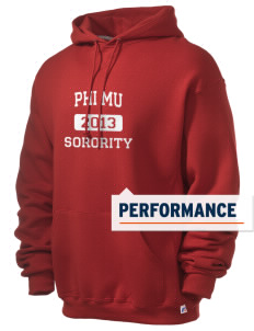Phi Mu Russell Men's Dri-Power Hooded Sweatshirt