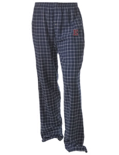 Eufaula Middle School Spartans Unisex Button-Fly Collegiate Flannel Pant with Distressed Applique