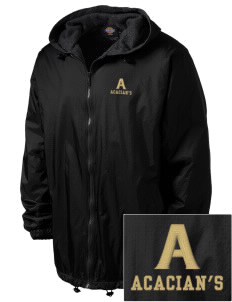 Acacia Embroidered Dickies Men's Fleece-Lined Hooded Jacket