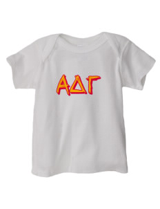Alpha Delta Gamma  Baby Lap Shoulder T-Shirt