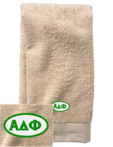 Alpha Delta Phi  Embroidered Zero Twist Resort Hand Towel