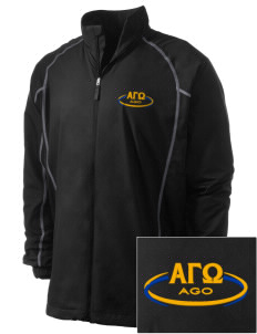 Alpha Gamma Omega Embroidered Men's Nike Golf Full Zip Wind Jacket