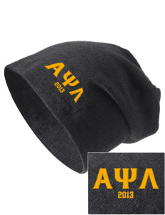 Alpha Psi Lambda Embroidered Slouch Beanie
