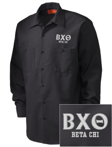 Beta Chi Theta Embroidered Men's Industrial Work Shirt - Regular