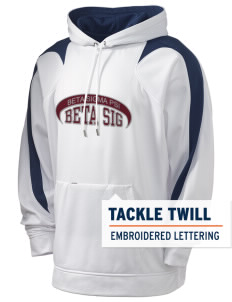 Beta Sigma Psi Holloway Men's Sports Fleece Hooded Sweatshirt with Tackle Twill