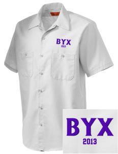 Beta Upsilon Chi Embroidered Men's Cornerstone Industrial Short Sleeve Work Shirt