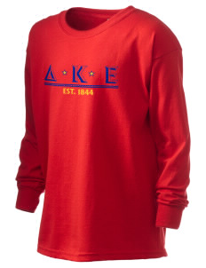 Delta Kappa Epsilon Kid's 6.1 oz Long Sleeve Ultra Cotton T-Shirt