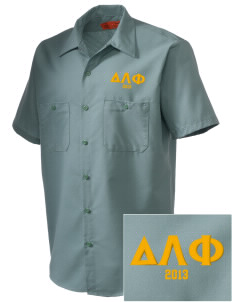 Delta Lambda Phi Embroidered Men's Cornerstone Industrial Short Sleeve Work Shirt