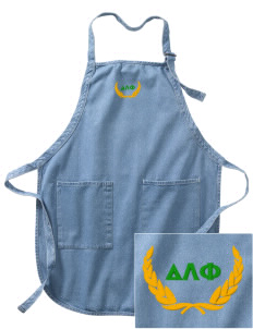 Delta Lambda Phi Embroidered Full-Length Apron with Pockets