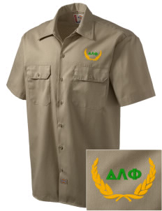 Delta Lambda Phi Embroidered Dickies Men's Short-Sleeve Workshirt